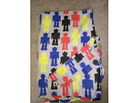 Dunelm Robot children's curtains