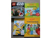 Children's books x4. Star Wars, The magic key and Minions