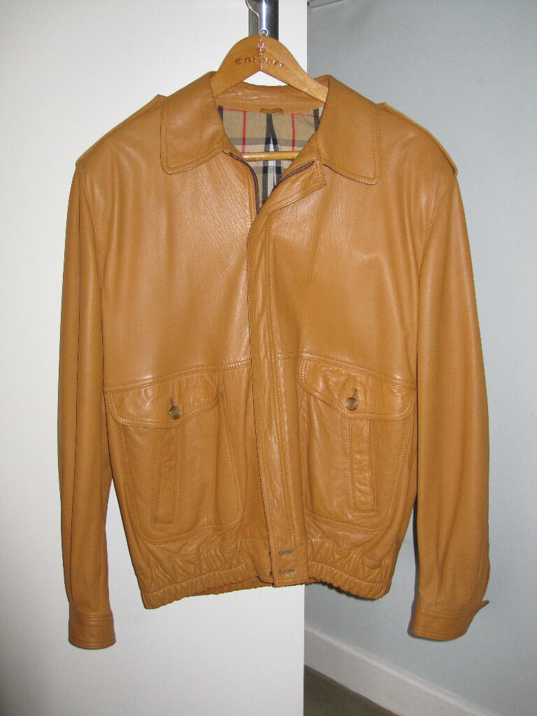 Burberry's mens leather jacket