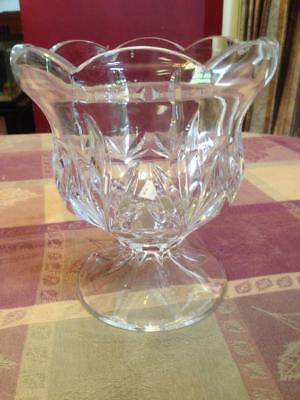 Royal Limtited 24% Lead Crystal Tulip Hurricane Candle Holder *MINT* Czech Tulip Hurricane