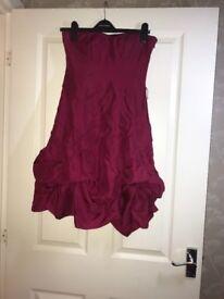 Maroon coloured coast dress