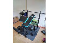 Bench set , 75 kg weights