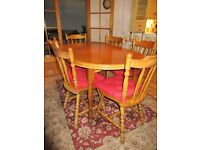 Country Style table with 6 matching chairs
