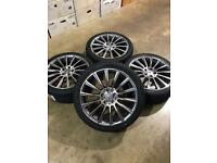 "Brand new set of 18"" alloy wheels and tyres Mercedes"