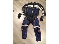Alpinestars leather and hjc helmet