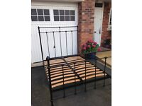 Antique Style Metal Double Bed.