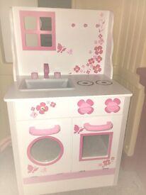 Girls wooden kitchen as new