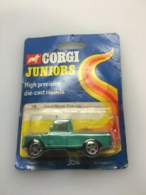 Rare Aqua Green Corgi Juniors No 16 Land Rover Pick Up Toy - Still Sealed in Packaging