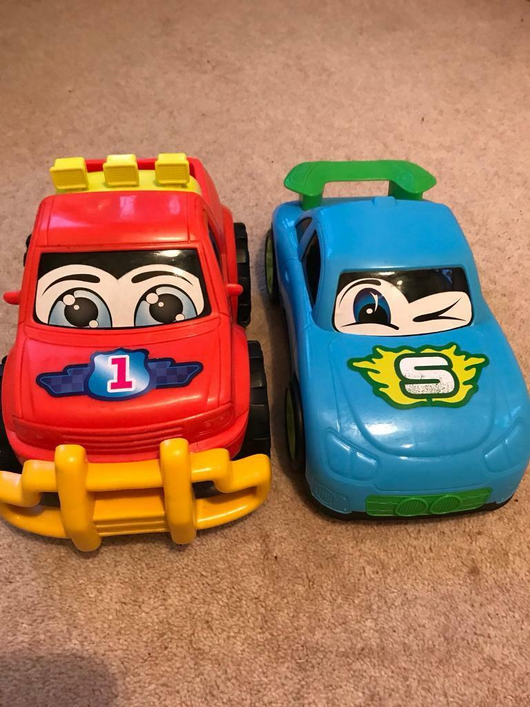 2 large Plastic cars