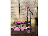 Y Glider scooter with detachable seat