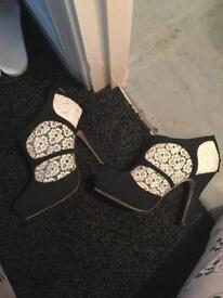 Worn once size 5 miss selfridge shoes