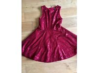 Autograph sparkly red dress age 7-8