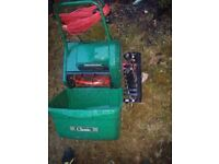 *JOB LOT of Electrical Garden Tools* 2x Lawnmowers PLUS 1x Scarifier PLUS 1x Strimmer