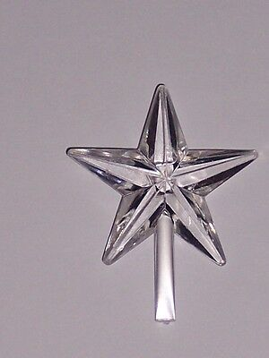 CERAMIC CHRISTMAS TREE STAR Topper Chubby Clear Medium has been discontinued