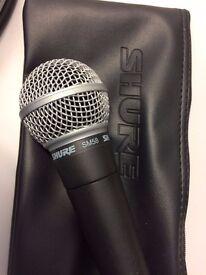 Shure SM58 mic + case + XLR cable - excellent condition - For Sale