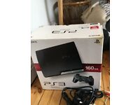 Boxed Sony Playstation 3 (PS3) 160GB Slim Console, x3 wireless controllers, 12 Games