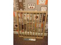 2x Wooden Baby Stair Safety Gate Beechwood