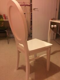 Cream dressing table chair