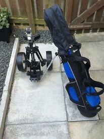 Junior Golf Clubs with Stowaway Trolley Suitable for upto 10 years