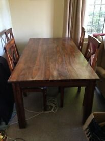 Indian rosewood dining table