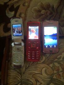 Mobile phones x3
