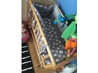 Crib mothercare with matress used but excellent condition