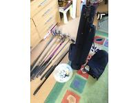 Ladies mixed golf clubs and Wilson bag