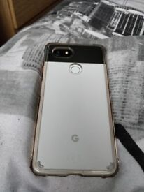 White & Black Google Pixel 2 Xl With Case