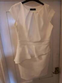 Jane Norman Short Size 12 Cream/Off White Dress