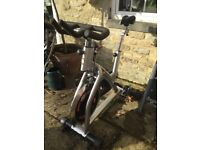 An Excercise bike purchase from a gym 6months. Quite old but in good working order.