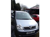 Vauxhall meriva 1.7 diesel 2005 and mileage 117500