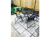 Garden table &a chairs