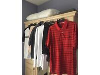 Golf Clothes (6 Items - Included Lyle & Scott Waterproof Jacket, Adidas Polo Shirts & Trousers)