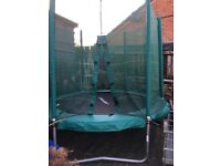 Smyths Toys 8ft trampoline with enclosure. Bought last summer, hardly used. Collection only.