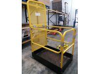 Forklift Safety Access Platform Man Cage Basket - Lift Up Bar