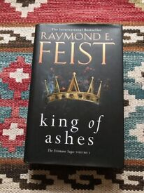 Hardback copy of 'King of ashes'. As brand new