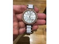 Michael Kors Ladies Parker Chronograph Rose Plate Watch MK5774
