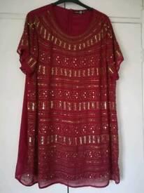Boohoo dress size 24