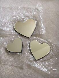 Shabby chic Decorative heart mirrors