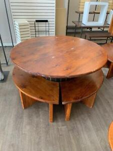 60 INCH ROUND TABLE WITH BENCH