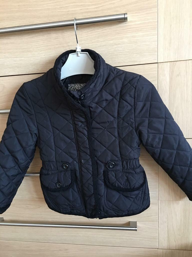 Debenhams black jacket, zip up , age 3/4 years