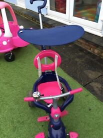 Pink and blue Smart Trike