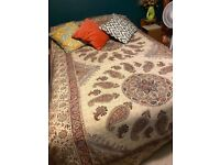 Double bed & mattress with storage