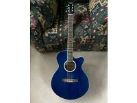 Stagg Handmade Western Blue Electro-Acoustic Guitar For Sale!