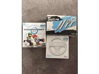 Wii mariokart & wii wheel & sport pack