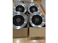 "15"" 8j bbs rs style alloy wheels 4x100 4x114.3 et30 VW golf mk1 mk2 BMW e30 Renault Clio mx5"