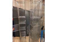 Metal mesh storage towers
