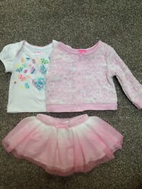 2 baby girls sets tutu skirt, cardigan, top, Tk Maxx, size 12 and 24 months