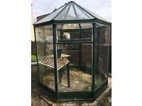 Octagon shapes glass greenhouse