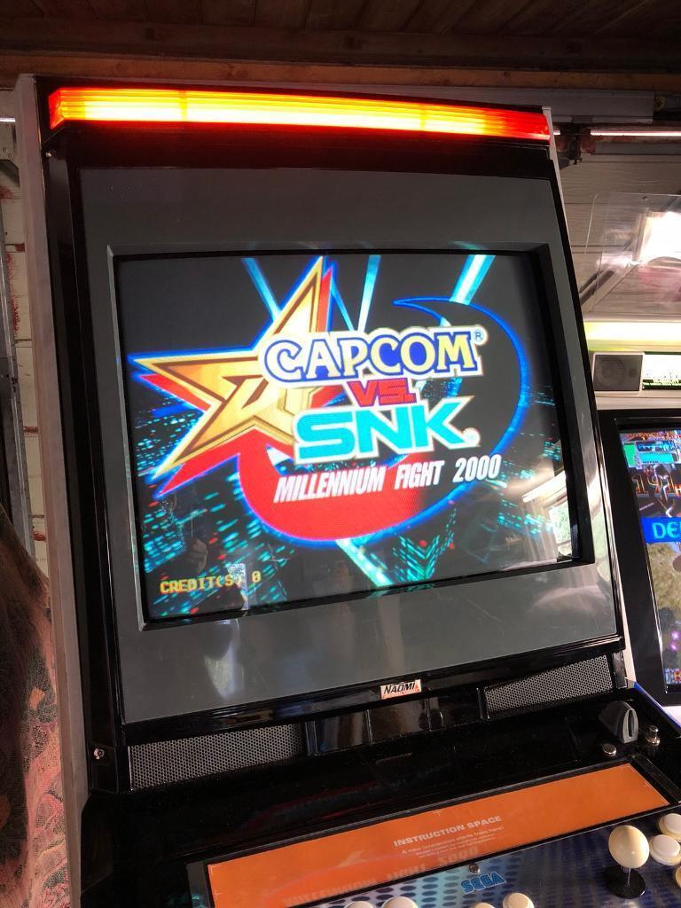 Arcade machine: Sega Naomi Universal Upright  Stunning Black  With Capcom  Vs  SNK + GD-Rom  | in Littlehampton, West Sussex | Gumtree
